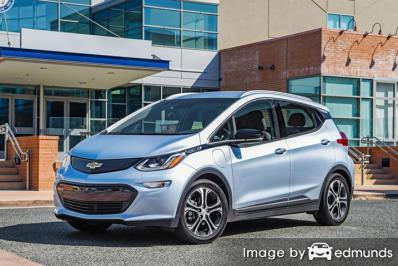 Insurance rates Chevy Bolt EV in Boston