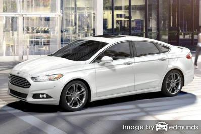 Insurance quote for Ford Fusion in Boston