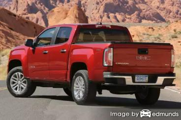 Insurance rates GMC Canyon in Boston