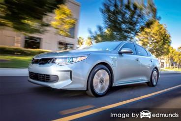 Insurance quote for Kia Optima Plug-In Hybrid in Boston