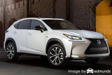Insurance rates Lexus NX 200t in Boston