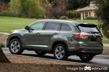Insurance quote for Toyota Highlander Hybrid in Boston